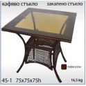 Градинска маса от изкуствен ратан