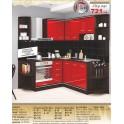 Кухня червен гланц СИТИ 241
