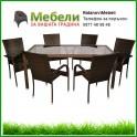 Градински ратанови мебели - столове , маси