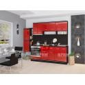 Гланцова червена кухня СИТИ 242