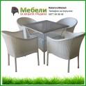 Ратанови градински мебели - кафяв или бял ратан