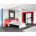 Спален комплект КУАРТИ в черно и бяло