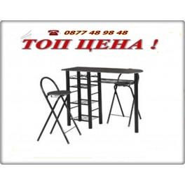 Комплект маса и два стола за кухня