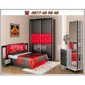 Спалня  Белона в червено и черно