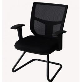 Черен посетителски стол