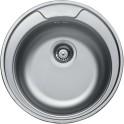 Кръгла кухненска мивка от неръждаема стомана - алпака