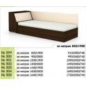 Легло със скосена ракла за едно- и двулицев матрак