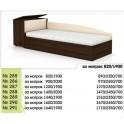 Легло за едно- или двулицев матрак, с ракла
