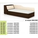 Единично легло със скосена ракла за едно- или двулицев матрак