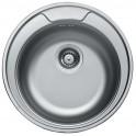Кръгла кухненска мивка от неръждаема стомана