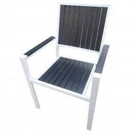 Бял стол от метал AM-1034
