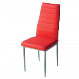 Трапезен стол W 68 червена кожа