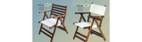 Градински дървени столове за външни условия